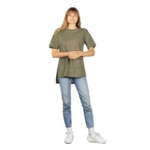 Olive Kirk green striped long tee